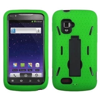 ASMYNA Black/ Green Case for ZTE N910 Anthem 4G