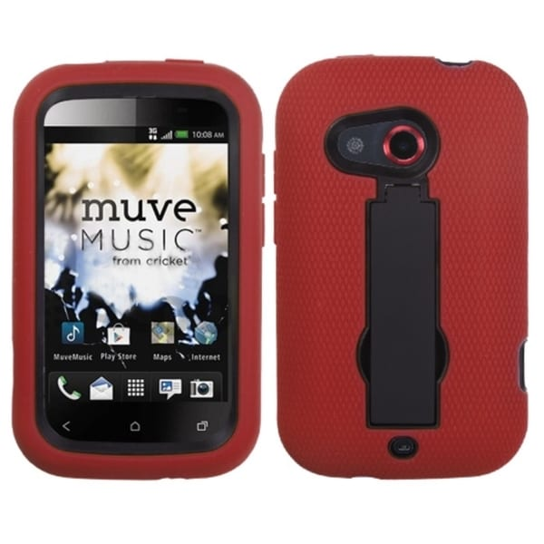 ASMYNA Black/ Red Case for HTC Desire C