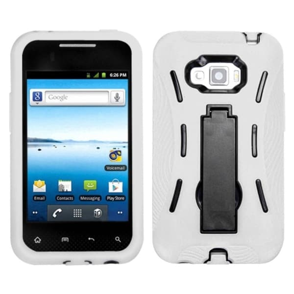 ASMYNA Black/ White Case for LG LS696 Optimus Elite