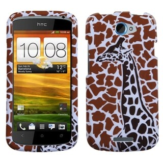 MYBAT Brown Giraffe Case for HTC One S
