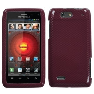 MYBAT Carbon Fiber/ Red Case for Motorola Droid 4 XT894