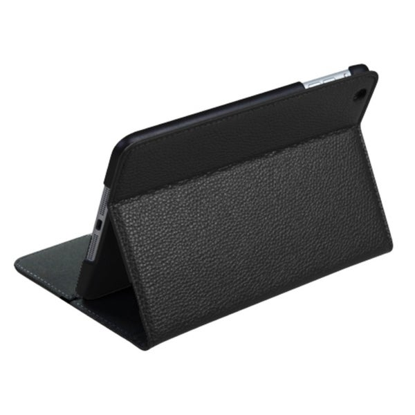 Insten Black Folio Flip Leather Wallet Flap Pouch Tablet Case with Stand for Apple iPad Mini 1/ 2/ 3