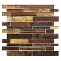 SomerTile 11.5 x 11.75-inch Woodland Maple Glass Mosaic Tile (Pack of 10)