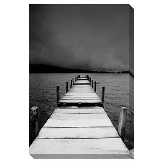B/W Jetty View Oversized Gallery Wrapped Canvas
