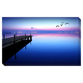 Dock at Dusk Oversized Gallery Wrapped Canvas
