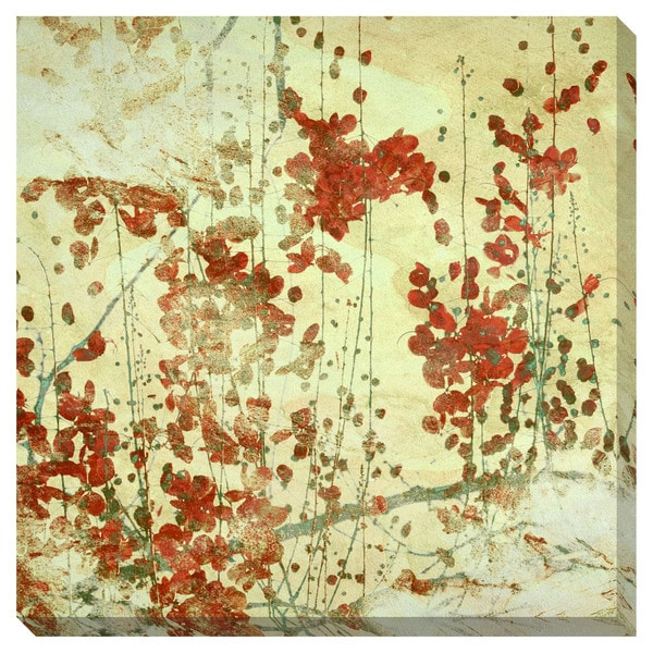 Red Flowers Oversized Gallery Wrapped Canvas