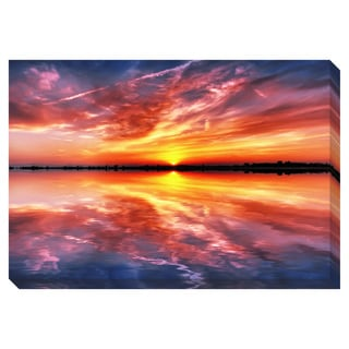 Clouds Reflected on the Water Oversized Gallery Wrapped Canvas