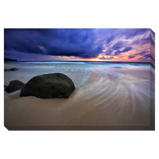 Tropical Beach Sunset Oversized Gallery Wrapped Canvas