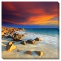 'Sunrise on the Beach' Contemporary Oversized Gallery-Wrapped Canvas
