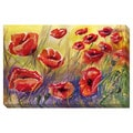 Delightful Poppies I Oversized Gallery Wrapped Canvas