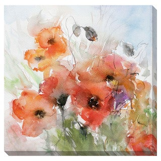 Floral Watercolor Oversized Gallery Wrapped Canvas