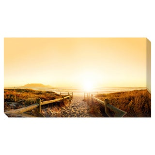 Sunrise on the Beach Oversized Gallery Wrapped Canvas