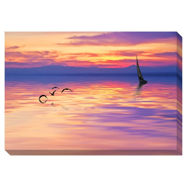 Chasing the Sun Oversized Gallery Wrapped Canvas