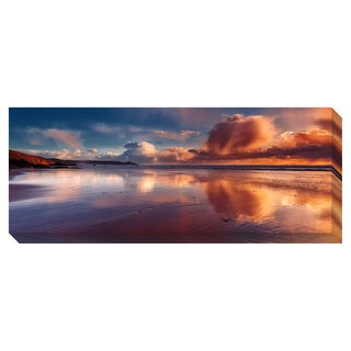 Beach Reflection Oversized Gallery Wrapped Canvas