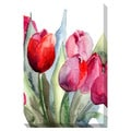 Tulips Watercolor Oversized Gallery Wrapped Canvas