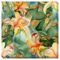 Lilies Watercolor Oversized Gallery Wrapped Canvas
