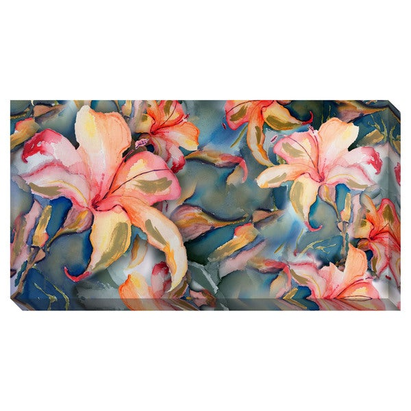 Orange Lilies Watercolor Oversized Gallery Wrapped Canvas