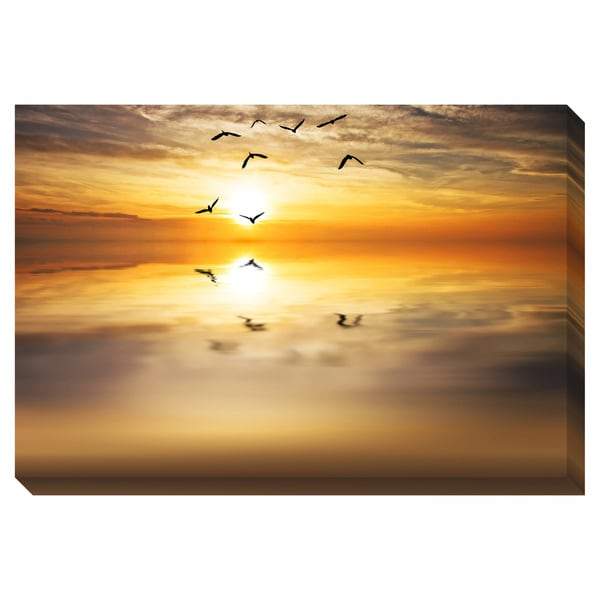 Flying Towards the Sun Oversized Gallery Wrapped Canvas