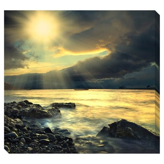 Sun on the Sea Oversized Gallery Wrapped Canvas