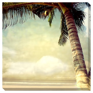 Vintage Palm Tree I Oversized Gallery Wrapped Canvas