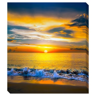 Colorful Sunset Over the Sea Oversized Gallery Wrapped Canvas