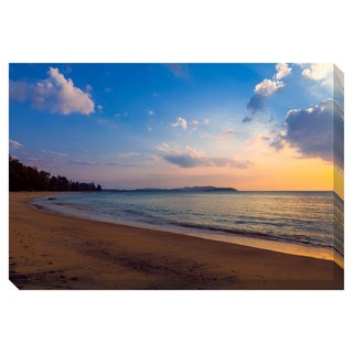 Sunset on the Beach Oversized Gallery Wrapped Canvas