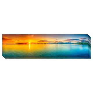 Ocean Sunset Panorama Oversized Gallery Wrapped Canvas