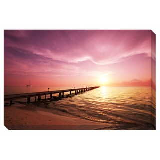Boardwalk on the Beach Oversized Gallery Wrapped Canvas