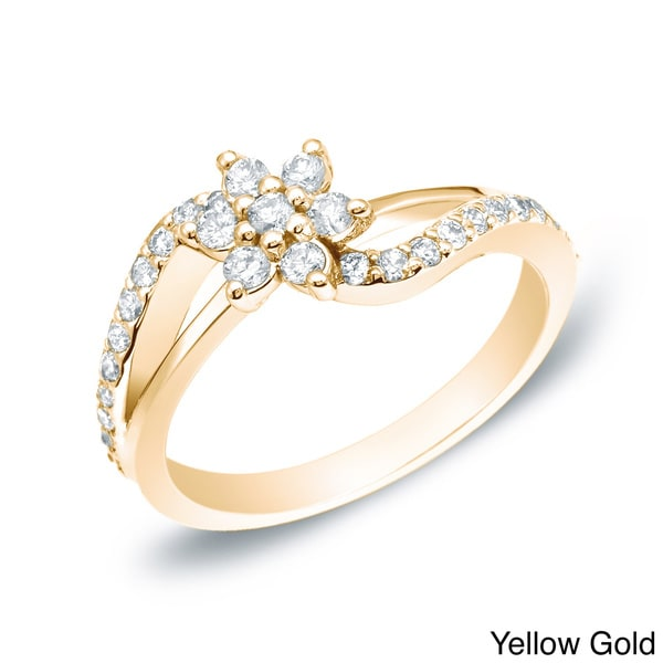 auriya 14k white yellow or gold 1 2ct tdw