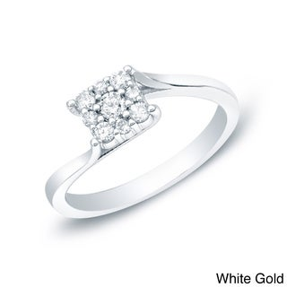 Auriya 14k White or Yellow Gold 1/4ct TDW Diamond Ring (H-I, I1-I2)