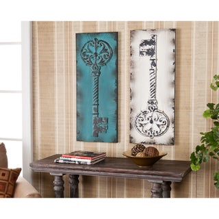 Harper Blvd Wilshire Vintage Key Decorative Wall Panel 2pc Set