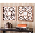 Berendo Square Decorative Wall Mirror 2pc Set