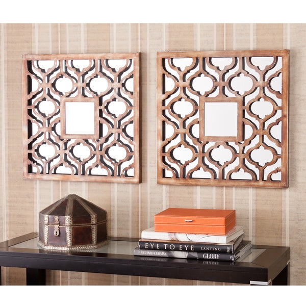 Upton Home Berendo Square Decorative Wall Mirror 2pc Set
