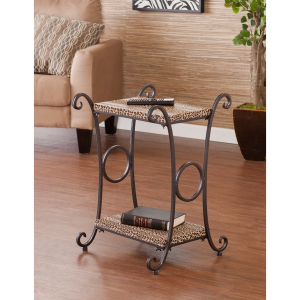 Upton Home Castell Leopard Animal Print Accent/ Side Table