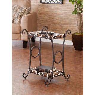 Upton Home Castell Giraffe Animal Print Accent/ Side Table