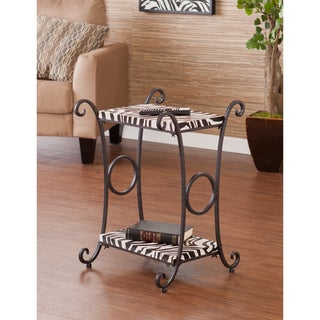 Upton Home Castell Zebra Animal Print Accent/ Side Table