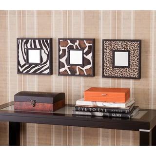 Upton Home Abana Animal Print Decorative Wall Mirror 3-Pc Set