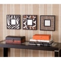 Upton Home Abana Animal Print Decorative Wall Mirror 3-Pc Set
