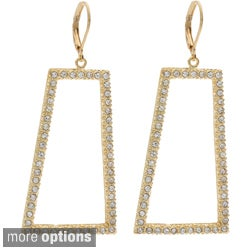 NEXTE Jewelry Goldtone or Silvertone Rhinestone Trapezoid Shape Earrings