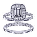 14k Gold 2 2/5ct TDW Emerald-cut Diamond Bridal Ring Set (F-G, SI1-SI2)