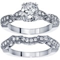 14k White Gold 2 3/8ct TDW Diamond Bridal Ring Set (F-G, SI1-SI2)