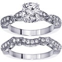 14k White Gold 2 1/10ct TDW Diamond Bridal Ring Set (F-G, SI1-SI2)