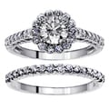14k White Gold 2ct TDW Diamond Halo Bridal Ring Set (F-G, SI1-SI2)