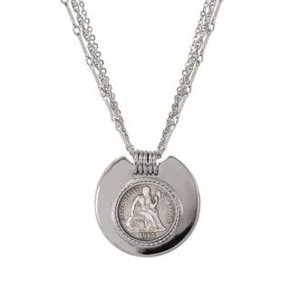American Coin Treasures Silvertone Civil War Coin Triple-strand Necklace
