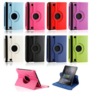 Gearonic 360 Degree Rotating Leather Case Cover with Swivel Stand for 2012 7-inch Amazon Kindle Fire HD