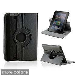 "Gearonic 360 Degree Rotating Leather Case Cover with Swivel Stand for Amazon Kindle 7"" 7 inch Fire HD"