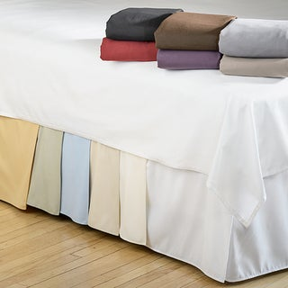Simple Elegance Microfiber Solid 15-inch Drop Bedskirt