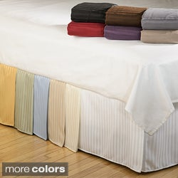 Simple Elegance Microfiber Stripe 15-inch Drop Bedskirt