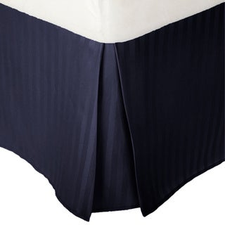 Superior Wrinkle Resistant Brushed Microfiber Stripe 15-inch Drop Bedskirt