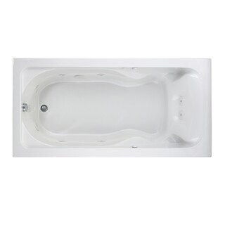 Cadet EverClean 6-Foot White Whirlpool Tub with Reversible Drain